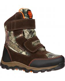 Rocky Boys' R.A.M. Waterproof Insulated Velcro Boots - Round Toe