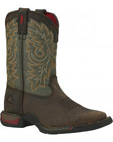 Rocky Youth Long Range Western Boots - Square Toe