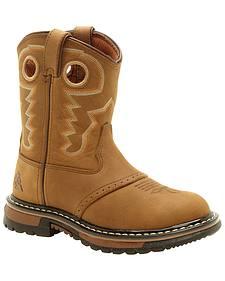 Rocky Children's Branson Roper Western Boots - Round Toe
