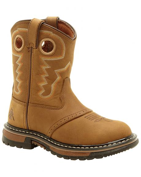 Rocky Youth Boys' Branson Roper Western Boots - Round Toe
