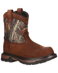 Rocky Boys' Ride Wellington Waterproof Boots