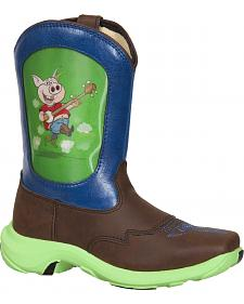 Durango Youth Pig Lenticular Western Boots