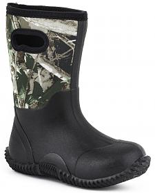 Roper Boys' Camo Neoprene Boots