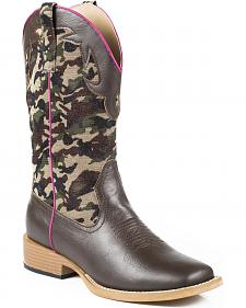 Roper Children's Camo Cowgirl Boots - Square Toe