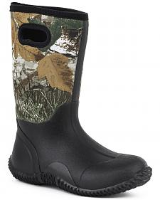 Roper Youth Boys' Camo Barnyard Boots - Round Toe