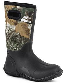 Roper Youth Boys' Camo Barnyard Boots - Round Toe