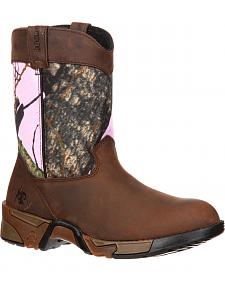 Rocky Girls' Aztec Pull-On Wellington Boots - Round Toe