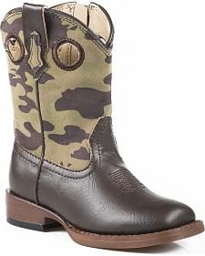 Roper Toddler Boys' Camo Cowboy Boots - Square Toe