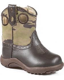 Roper Infant Boys' Camo Print Cowbabies Boots