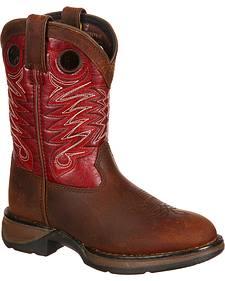 Lil' Durango Kids' Raindrop Western Boots - Round Toe