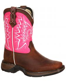 Lil' Durango Girls' Let Love Fly Western Boots - Square Toe