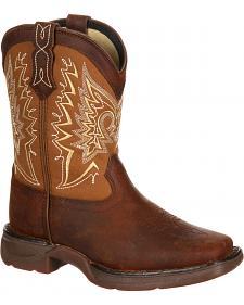 Lil' Durango Boys' Let Love Fly Western Boots - Square Toe