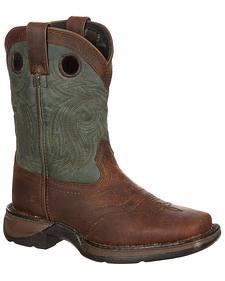 Lil' Durango Youth Saddle Western Boots - Square Toe