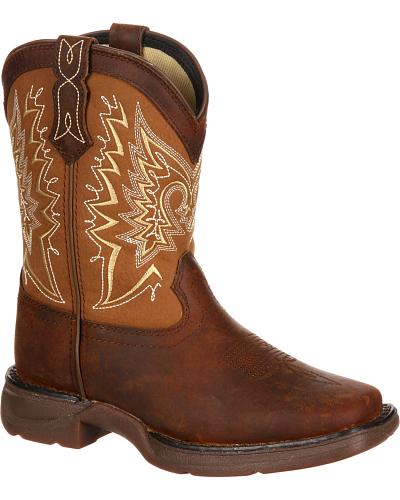 Durango Infant Let Love Fly Western Boots Square Toe Western & Country DWBT098