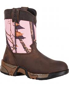 Rocky Girls' Aztec Pull-On Wellington Boots