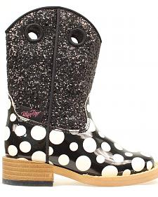 Blazin Roxx Toddler Girls' Pearl Polka Dot Boots
