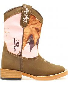 Blazin Roxx Toddler Girls' Briar Pink Mossy Oak Boots