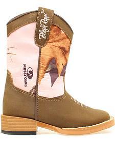 Blazin Roxx Girls' Zip Briar Pink Mossy Oak Boots