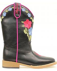 Blazin Roxx Girls' Juniper Bold Flower Embroidered Boots