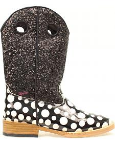 Blazin Roxx Youth Girls' Pearl Polka Dot Glitter Boots
