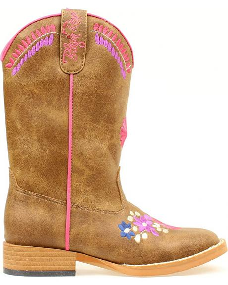 Blazin Roxx Youth Girls' Sashay Floral Embroidered Boots - Round Toe