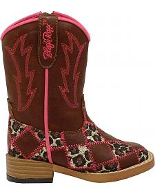 Blazin Roxx Toddler Girls' Miley Patchwork Boots - Square Toe
