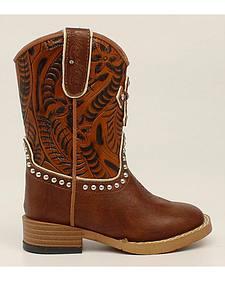 Blazin Roxx Toddler Girls' Cross  Cowgirl Boots - Square Toe