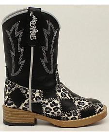 Blazin Roxx Toddler Girls' Zip Miley Patchwork Boots - Square Toe