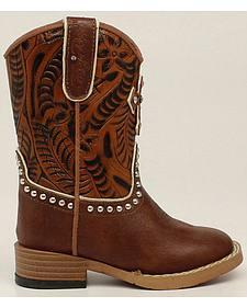 Blazin Roxx Girls' Zip Cross Boots - Square Toe