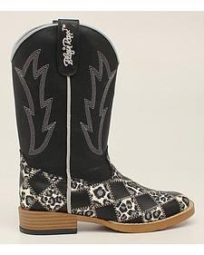Blazin Roxx Girls' Miley Patchwork Cowgirl Boots - Square Toe