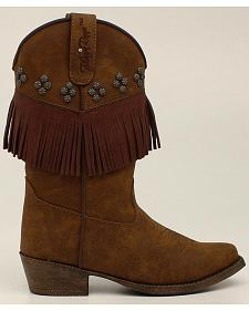 Blazin Roxx Youth Girls' Annabelle Fringe Boots - Snip Toe