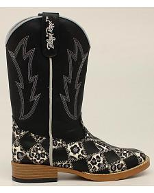 Blazin Roxx Youth Girls' Miley Patchwork Boots - Square Toe