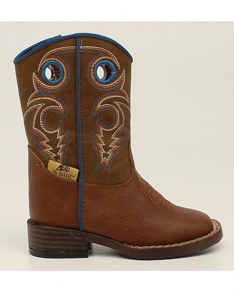 Double Barrel Toddler Boys' Dylan Cowboy Boots - Square Toe