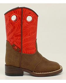 Double Barrel Toddler Boys' Sam Cowboy Boots - Square Toe