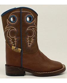 Double Barrel Boys' Zip Dylan Boots - Square Toe