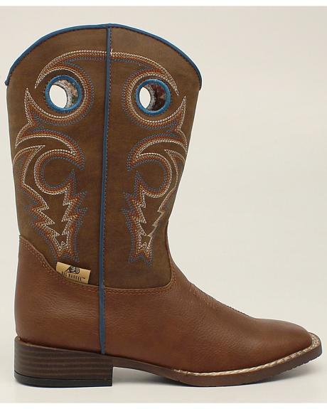 Double Barrel Boys' Dylan Cowboy Boots - Square Toe