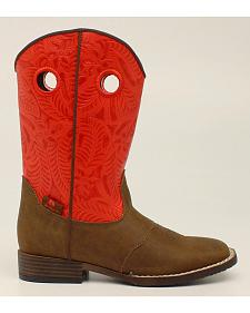 Double Barrel Boys' Sam Cowboy Boots - Square Toe