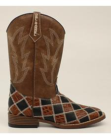 Double Barrel Boys' Andy Cowboy Boots - Square Toe