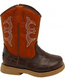 Double Barrel Toddler Boys' Lil' Bronc Boots - Square Toe