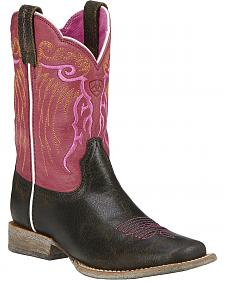 Ariat Youth Girls' Mesteno Cowgirl Boots - Square Toe