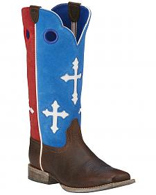 Ariat Boys' Ranchero Patriotic Cowboy Boots - Square Toe