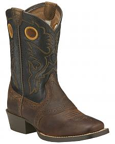 Ariat Youth Boys' Roughstock Cowboy Boots - Square Toe