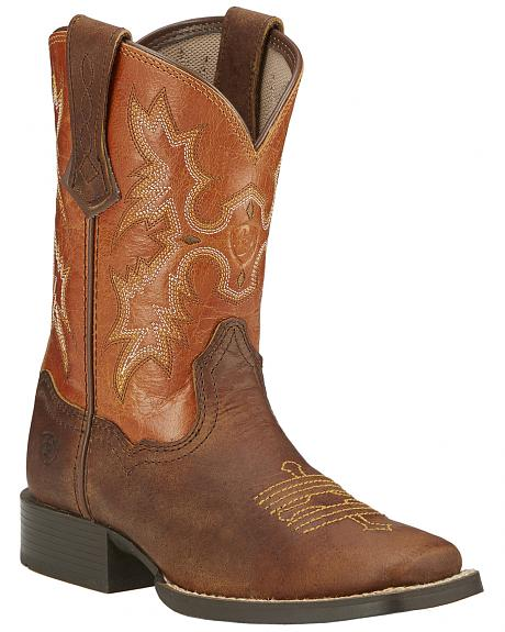 Ariat Youth Boys' Tombstone Cowboy Boots - Square Toe