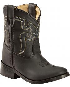 Swift Creek Toddler Boys' Black Cowboy Boots - Round Toe