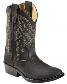 Swift Creek Boys' Black Cowboy Boots - Round Toe