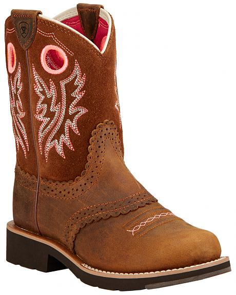 Ariat Children's Fatbaby Cowgirl Boots - Round Toe