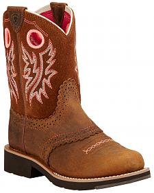 Ariat Youth Fatbaby Cowgirl Boots - Round Toe