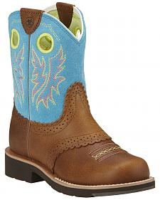 Ariat Girls' Fatbaby Cowgirl Boots - Round Toe