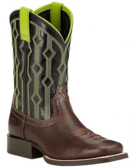 Ariat Youth Boys' Live Wire Cowboy Boots - Square Toe
