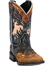 Dan Post Boys' Wild Rose Cowboy Boots